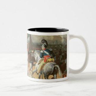 Santa Anna defies the Spanish troops Two-Tone Coffee Mug