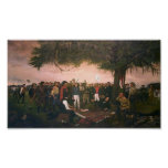 Santa Anna Surrender to Sam Houston at San Jacinto Poster