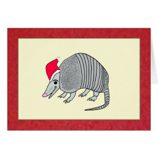 Santa Armadillo Christmas Card