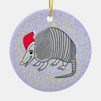 Santa Armadillo Christmas Christmas Ornament
