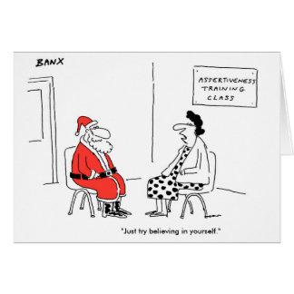 Santa Assertiveness Xmas Card