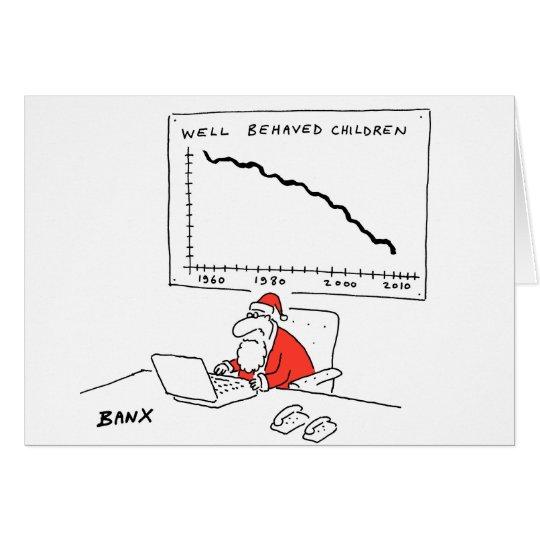 Santa at his desk Xmas card