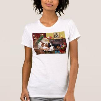 Santa At Home  Cavalier King Charles (two) T-Shirt