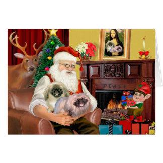 Santa At Home - Pekingese (R) - Santa Card
