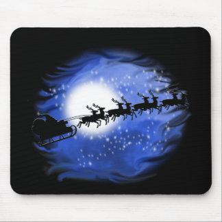 Santa at Night Mouse Pad