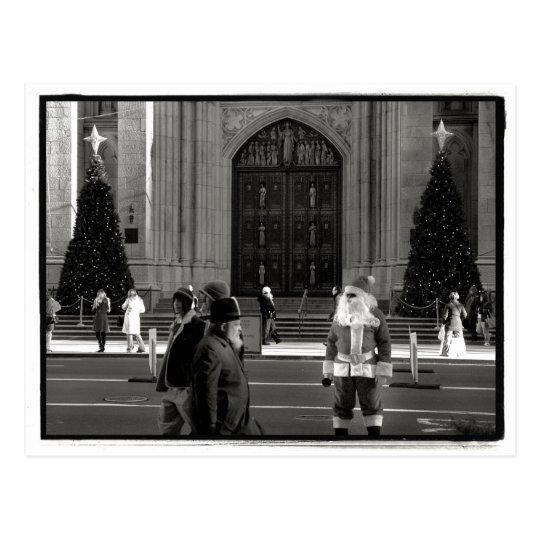 Santa at St. Patrick's Cathedral Postcard