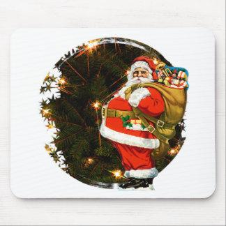 Santa at the Christmas Tree Mouse Pad
