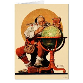 Santa at the Globe Card