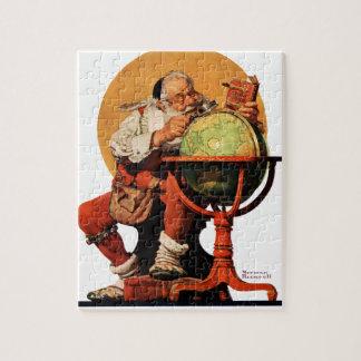 Santa at the Globe Jigsaw Puzzle