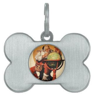 Santa at the Globe Pet Tag