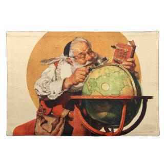 Santa at the Globe Placemat