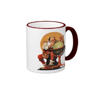 Santa at the Globe Ringer Mug