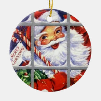 Santa at the Window Vintage Ornament