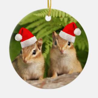 Santa Baby Chipmunks Christmas Ornament