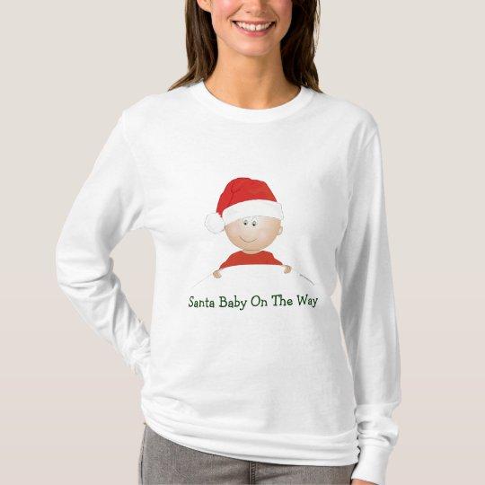 """Santa Baby"" Christmas Maternity T-Shirt"