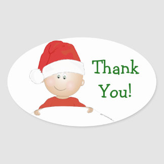 """""""Santa Baby"""" Christmas Shower Thank You Stickers"""