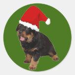 Santa Baby Round Stickers