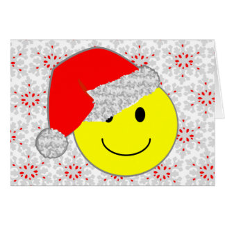 'santa baby' SMILEY FACE CHRISTMAS CARD