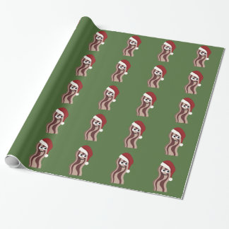 Santa Bacon Wrapping Paper