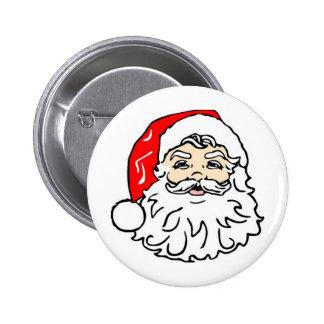 Santa 6 Cm Round Badge