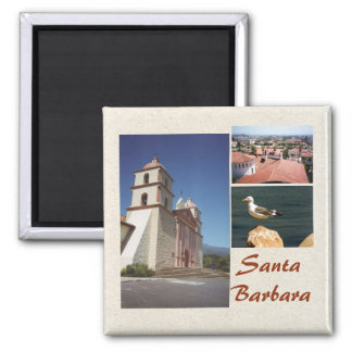Santa Barbara 3 Photo Magnet Template