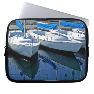 Santa Barbara Boats Seascape Laptop Sleeve
