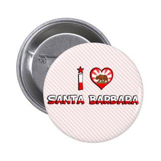 Santa Barbara, CA 6 Cm Round Badge