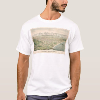 Santa Barbara, CA. Panoramic Map 1877 (1581A) T-Shirt