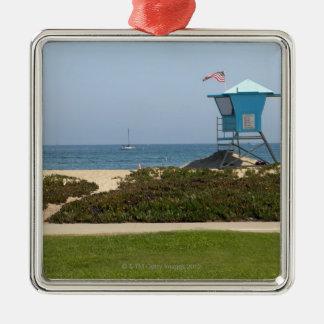 Santa Barbara, California 3 Silver-Colored Square Decoration