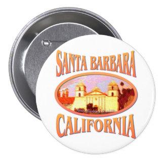 Santa Barbara California 7.5 Cm Round Badge