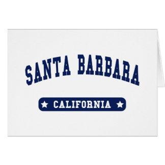 Santa Barbara California College Style tee shirts Greeting Card