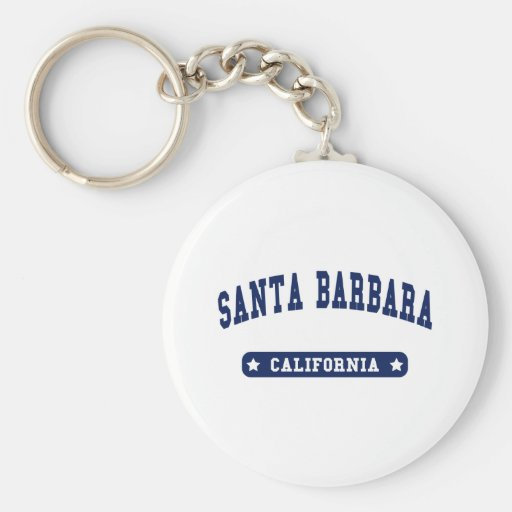 Santa Barbara California College Style tee shirts Key Chains