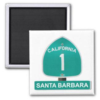Santa Barbara California Highway 1 Magnet