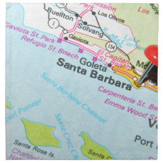 Santa Barbara, California Napkin