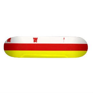 Santa Barbara, California, United States flag Custom Skate Board
