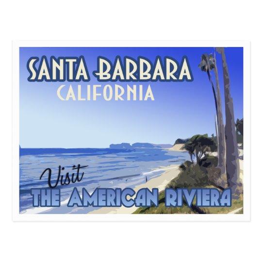 Santa Barbara California Vintage Travel Postcard
