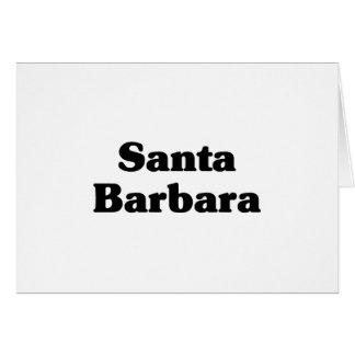 Santa Barbara  Classic t shirts Card