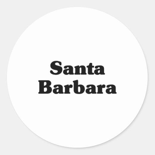 Santa Barbara  Classic t shirts Round Sticker
