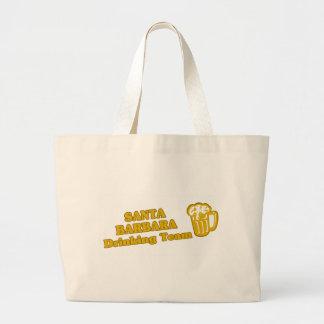 Santa Barbara Drinking Team tee shirts Canvas Bags