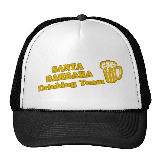Santa Barbara Drinking Team tee shirts Hat