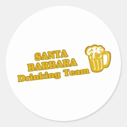 Santa Barbara Drinking Team tee shirts Round Sticker