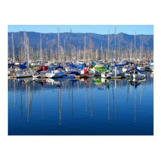 Santa Barbara Harbor Post Card