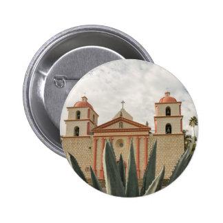 Santa Barbara Mission 6 Cm Round Badge