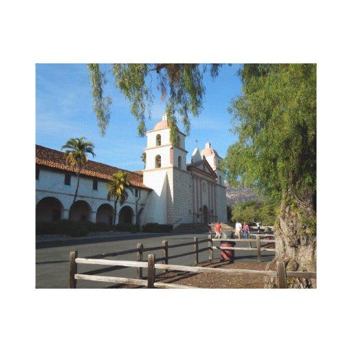 Santa Barbara Mission, California Canvas Print