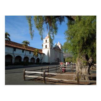 Santa Barbara Mission California Postcard