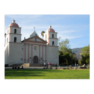 Santa Barbara Mission, California Postcard
