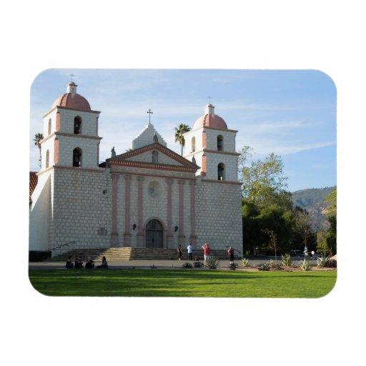 Santa Barbara Mission, California Vinyl Magnets