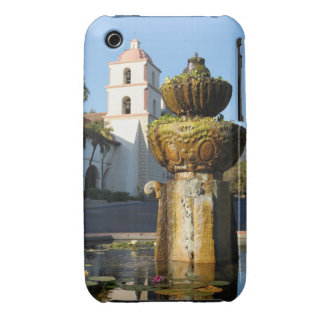 Santa Barbara Mission Fountain iPhone 3 Cases