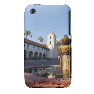 Santa Barbara Mission Fountain Case-Mate iPhone 3 Cases
