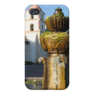 Santa Barbara Mission Fountain iPhone 4 Case